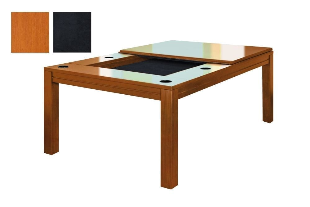 A Banquet gaming table in French Couture finish with black fabric