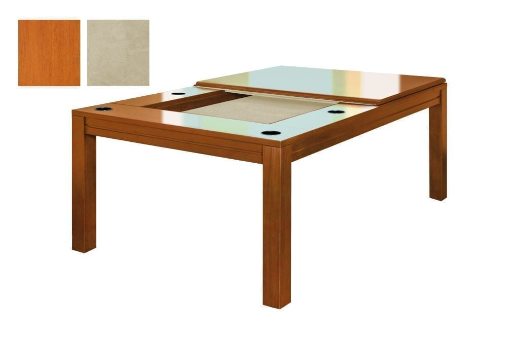 Banquet gaming table in French Couture finish with tan fabric