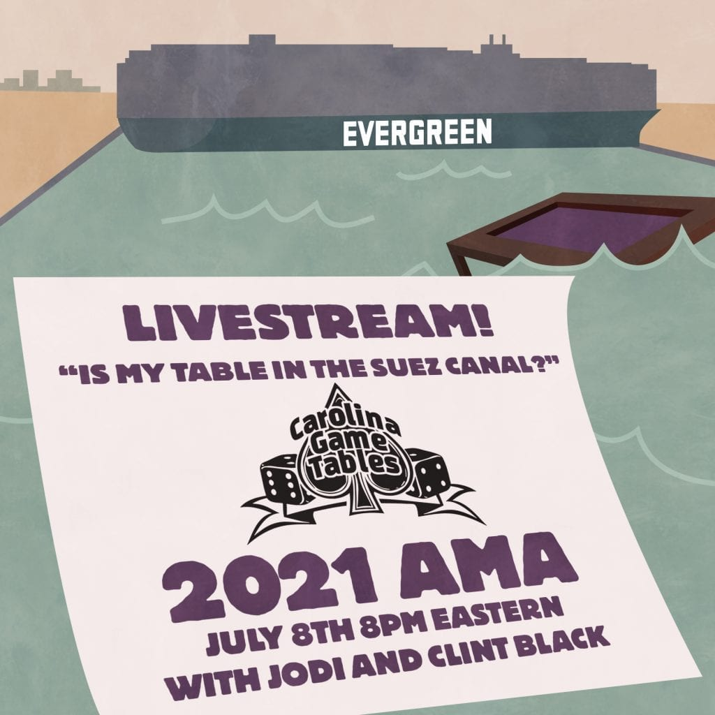 """Livestream! """"Is My Table In the Suez Canal?"""" and Other 2020/21 Questions"""